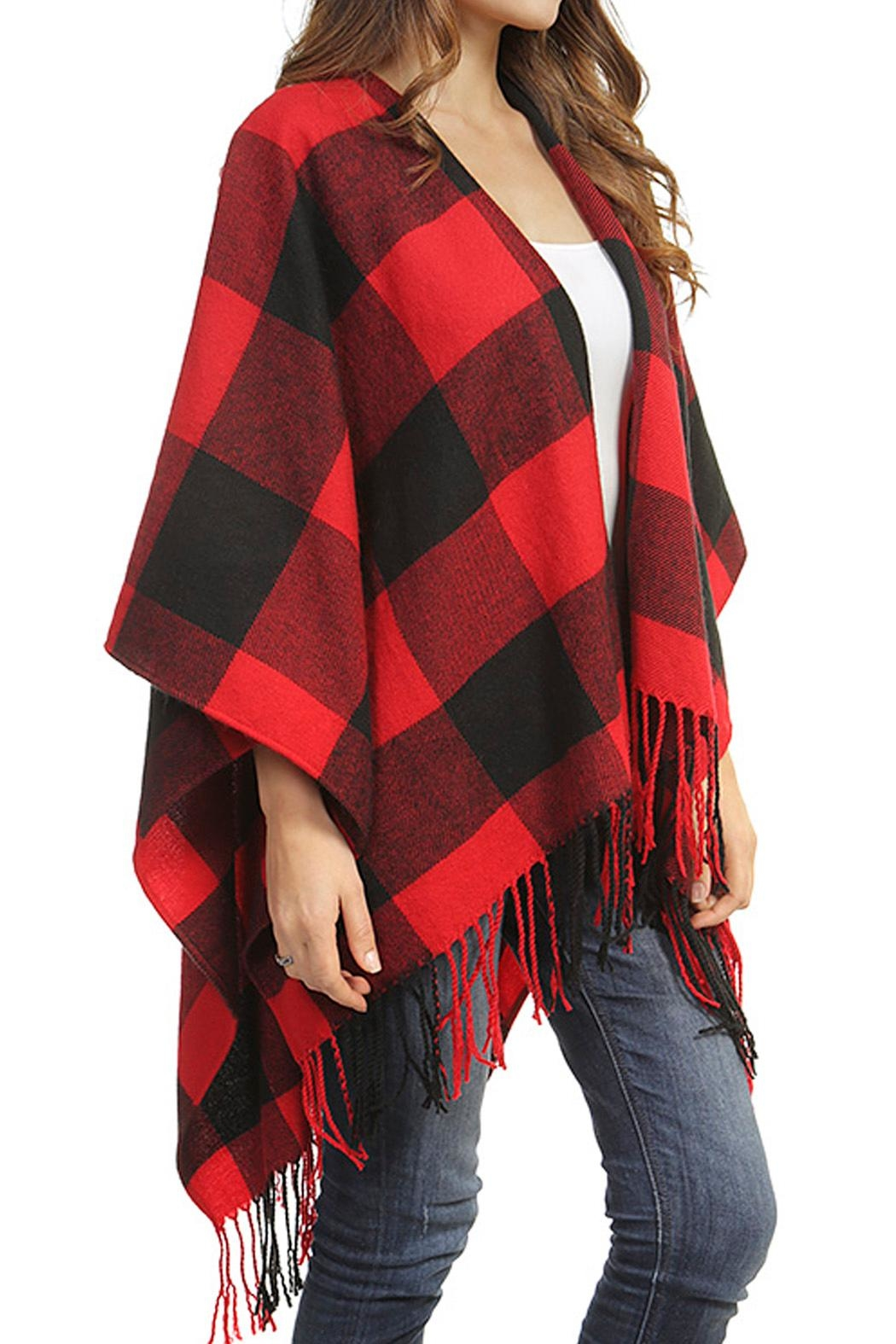 Wild Lilies Jewelry  Buffalo Check Poncho - Front Full Image