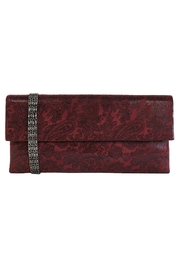 Wild Lilies Jewelry  Burgundy Paisley Clutch - Product Mini Image