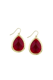Wild Lilies Jewelry  Burgundy Teardrop Earrings - Product Mini Image