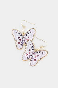 Wild Lilies Jewelry  Butterfly Statement Earrings - Product List Image