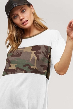Wild Lilies Jewelry  Camo Contrast Tee - Alternate List Image