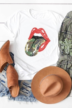 Wild Lilies Jewelry  Camo Tongue Tee - Alternate List Image