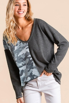 Shoptiques Product: Camouflage Thermal Top