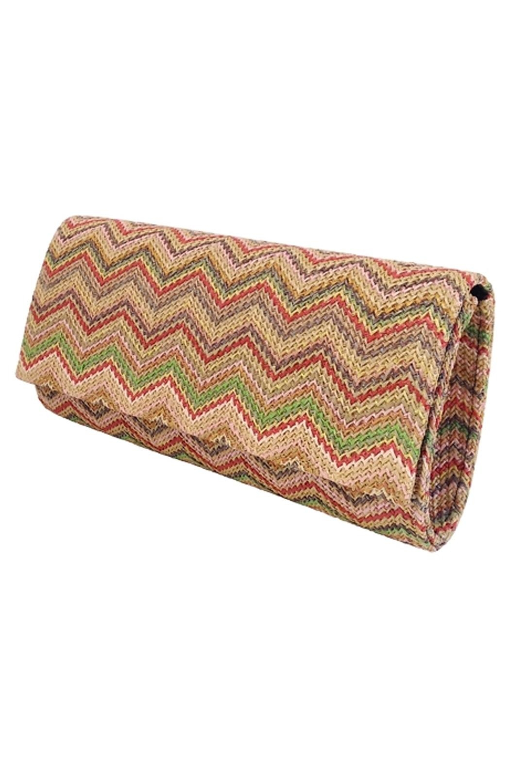 Wild Lilies Jewelry  Chevron Envelope Clutch - Front Full Image