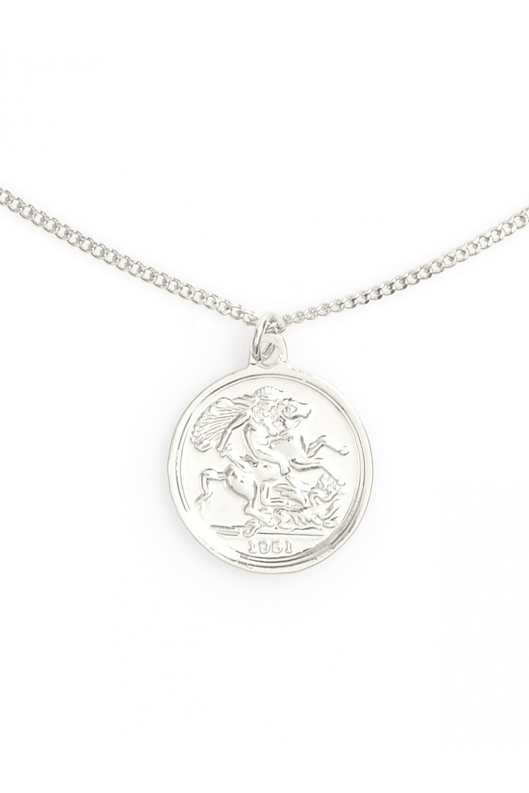 Wild Lilies Jewelry  Coin Pendant Necklace - Side Cropped Image