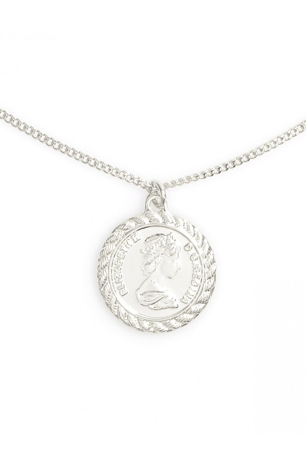 Wild Lilies Jewelry  Coin Pendant Necklace - Front Full Image