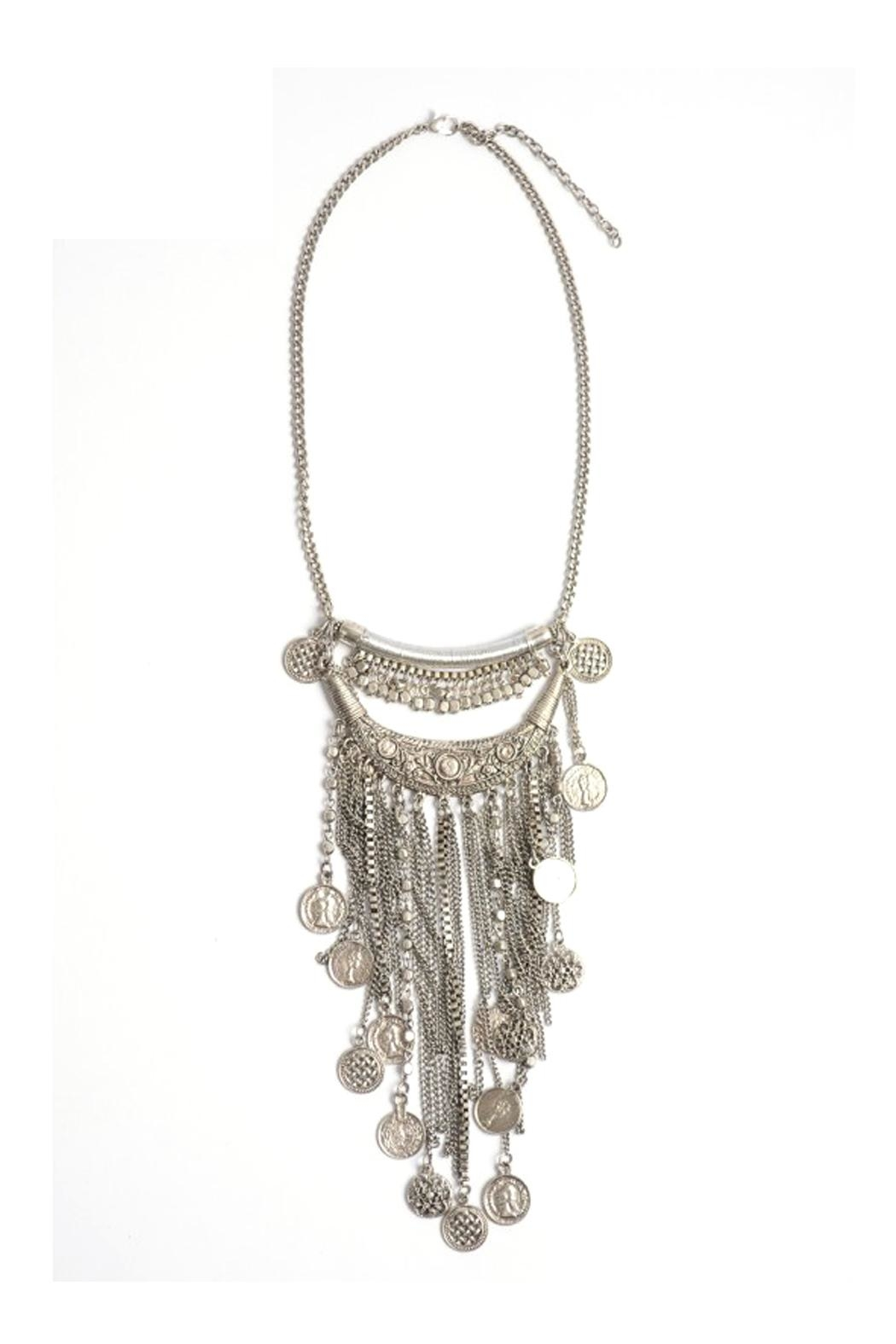 Wild Lilies Jewelry  Coin Statement Necklace - Front Full Image
