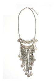 Wild Lilies Jewelry  Coin Statement Necklace - Front full body