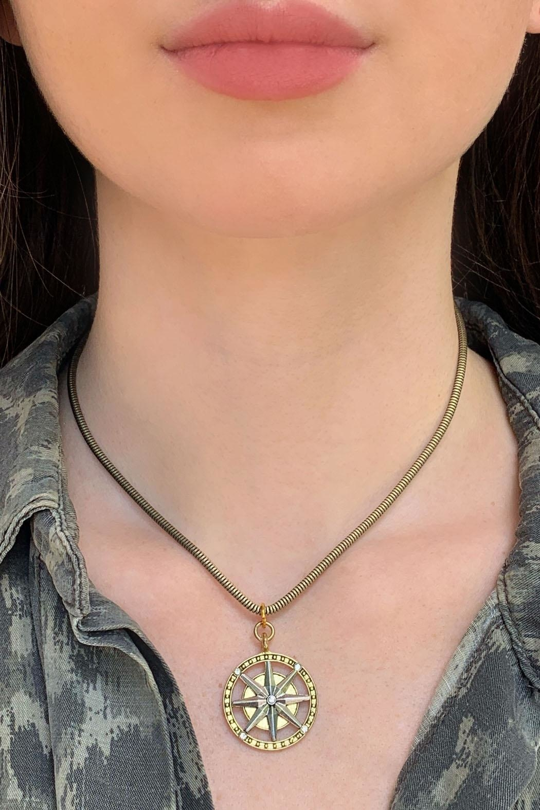 Wild Lilies Jewelry  Compass Pendant Necklace - Main Image