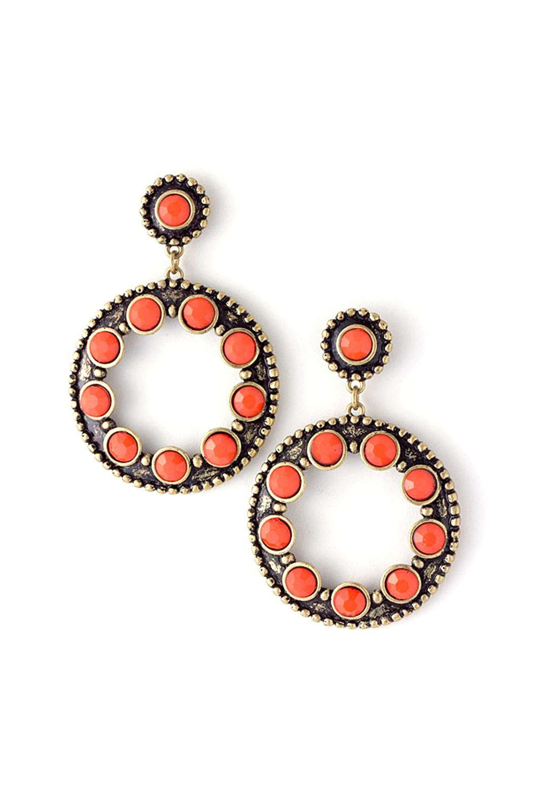 Wild Lilies Jewelry  Coral Circle Earrings - Main Image