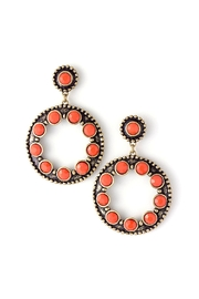 Wild Lilies Jewelry  Coral Circle Earrings - Front cropped