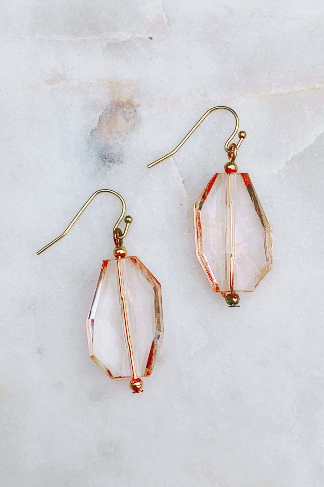 Wild Lilies Jewelry  Coral Drop Earrings - Main Image
