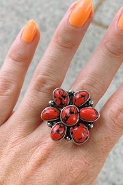 Wild Lilies Jewelry  Coral Flower Ring - Product Mini Image