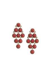 Wild Lilies Jewelry  Red Statement Earrings - Product Mini Image