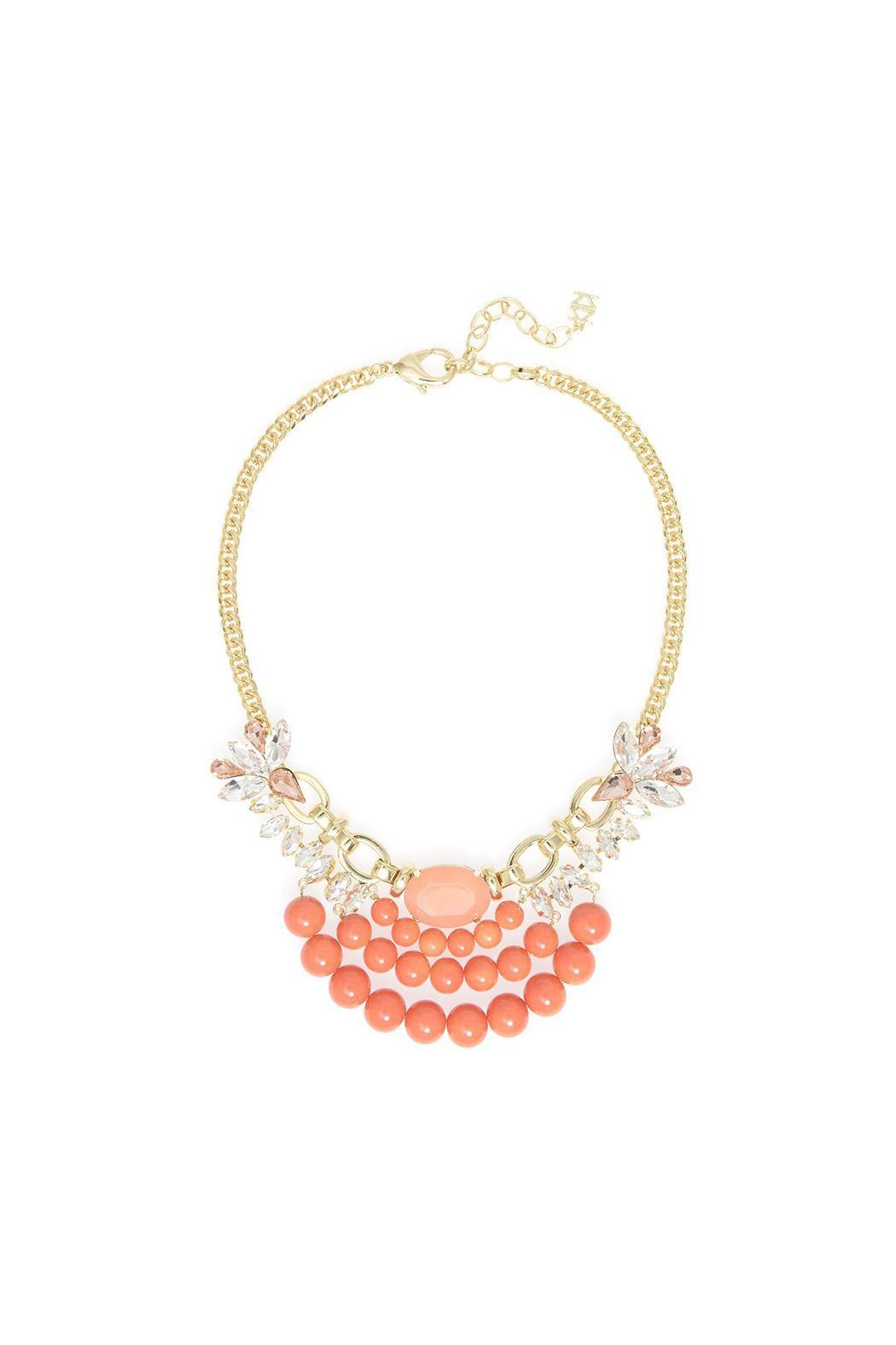 Wild Lilies Jewelry  Coral Statement Necklace - Main Image