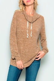 Wild Lilies Jewelry  Cowl Neck Sweater - Front cropped