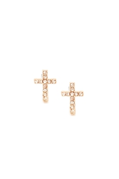 Wild Lilies Jewelry  Cross Stud Earrings - Product List Image