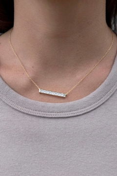 Wild Lilies Jewelry  Crystal Bar Necklace - Alternate List Image