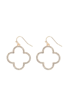 Shoptiques Product: Crystal Clover Earrings