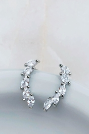 Wild Lilies Jewelry  Crystal Ear Climbers - Front cropped