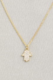 Wild Lilies Jewelry  Crystal Hamsa Necklace - Product Mini Image