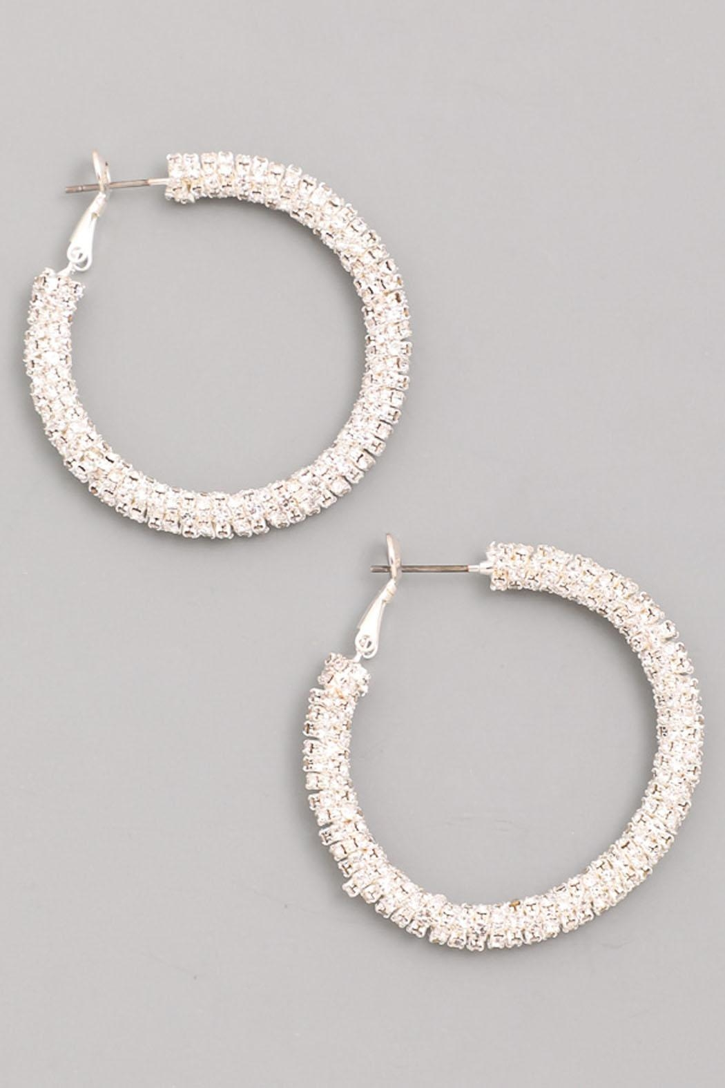 Wild Lilies Jewelry  Crystal Hoop Earrings - Front Cropped Image