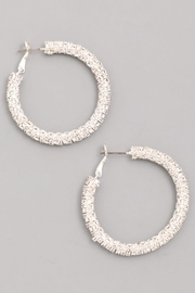 Wild Lilies Jewelry  Crystal Hoop Earrings - Product Mini Image