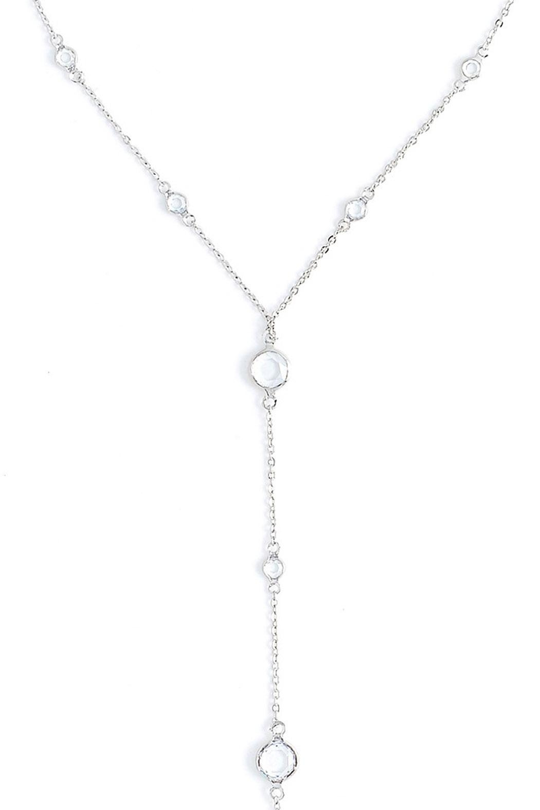 Wild Lilies Jewelry  Crystal Lariat Necklace - Front Full Image