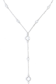 Wild Lilies Jewelry  Crystal Lariat Necklace - Front full body