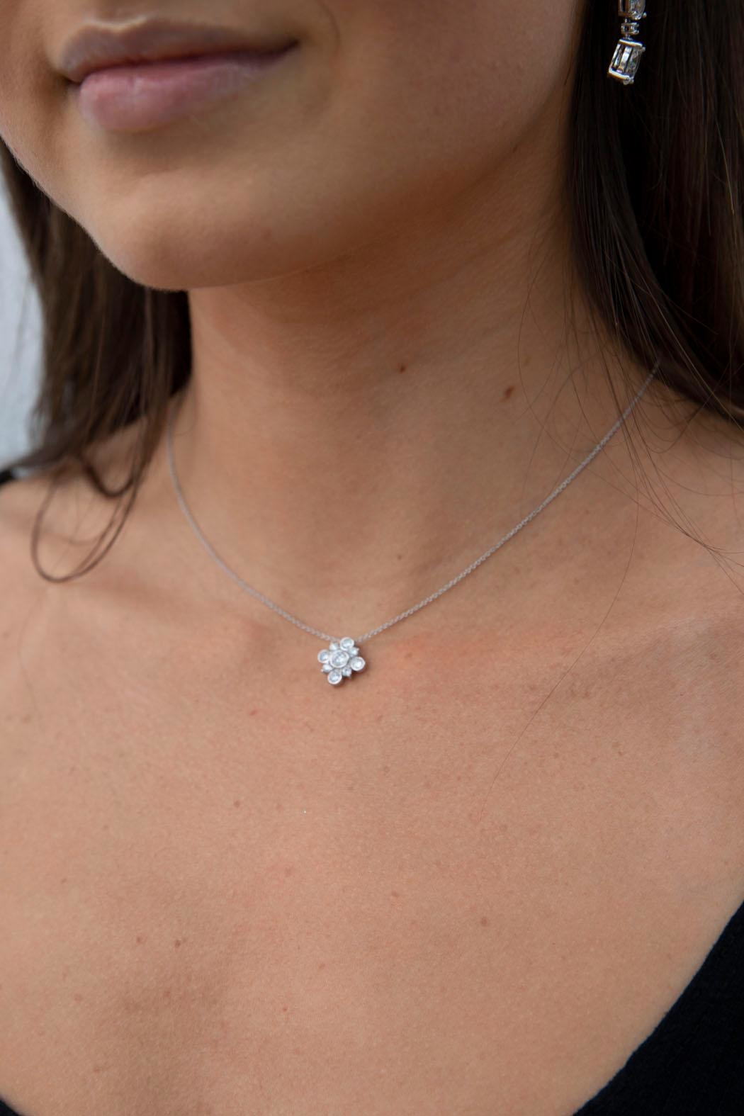 Wild Lilies Jewelry  Crystal Pendant Necklace - Main Image