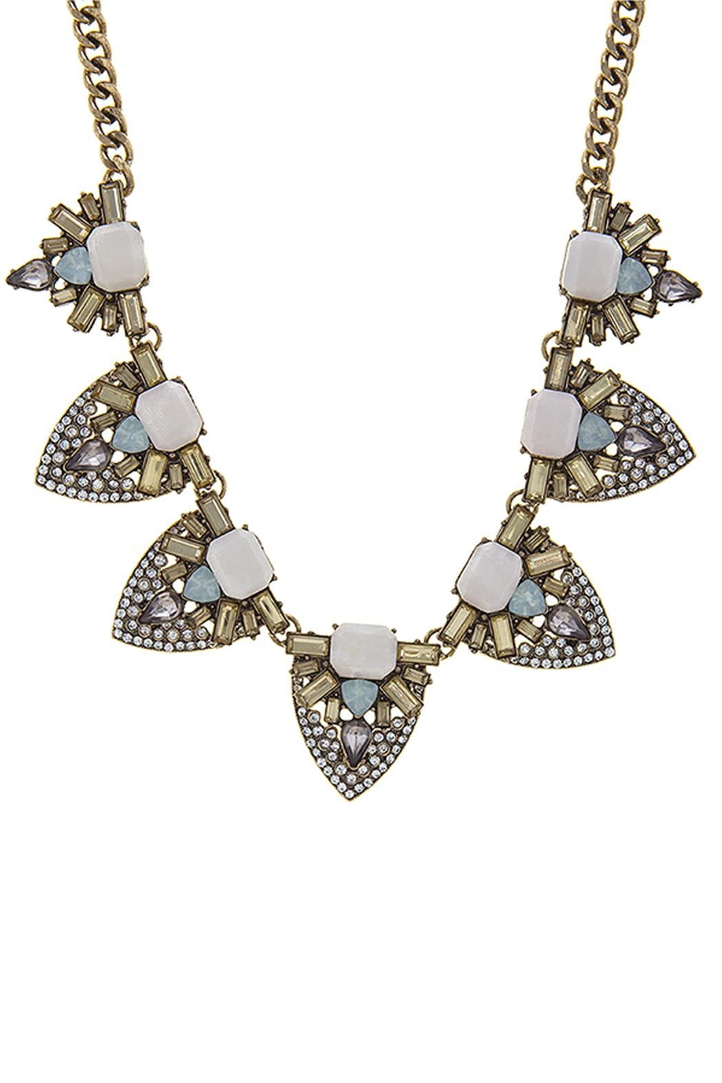 Wild Lilies Jewelry  Crystal Statement Necklace - Front Full Image