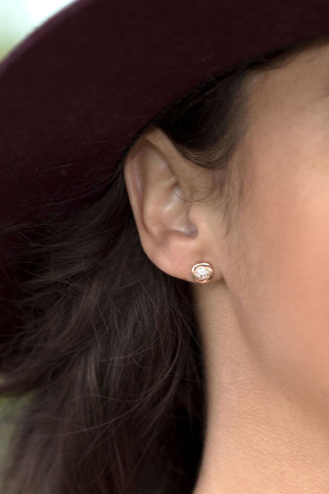 Wild Lilies Jewelry  Crystal Stud Earrings - Front Full Image