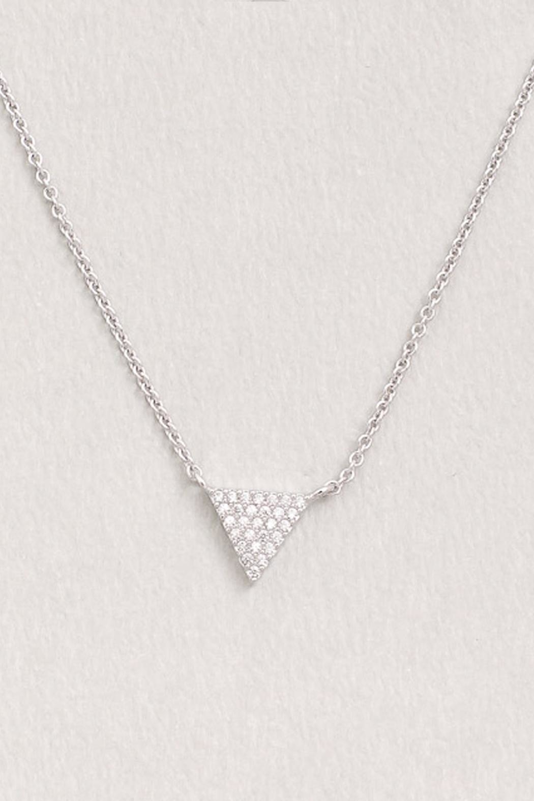 Wild Lilies Jewelry  Crystal Triangle Necklace - Front Full Image