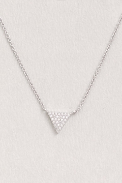 Wild Lilies Jewelry  Crystal Triangle Necklace - Alternate List Image