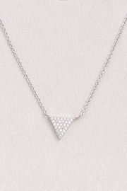 Wild Lilies Jewelry  Crystal Triangle Necklace - Front full body