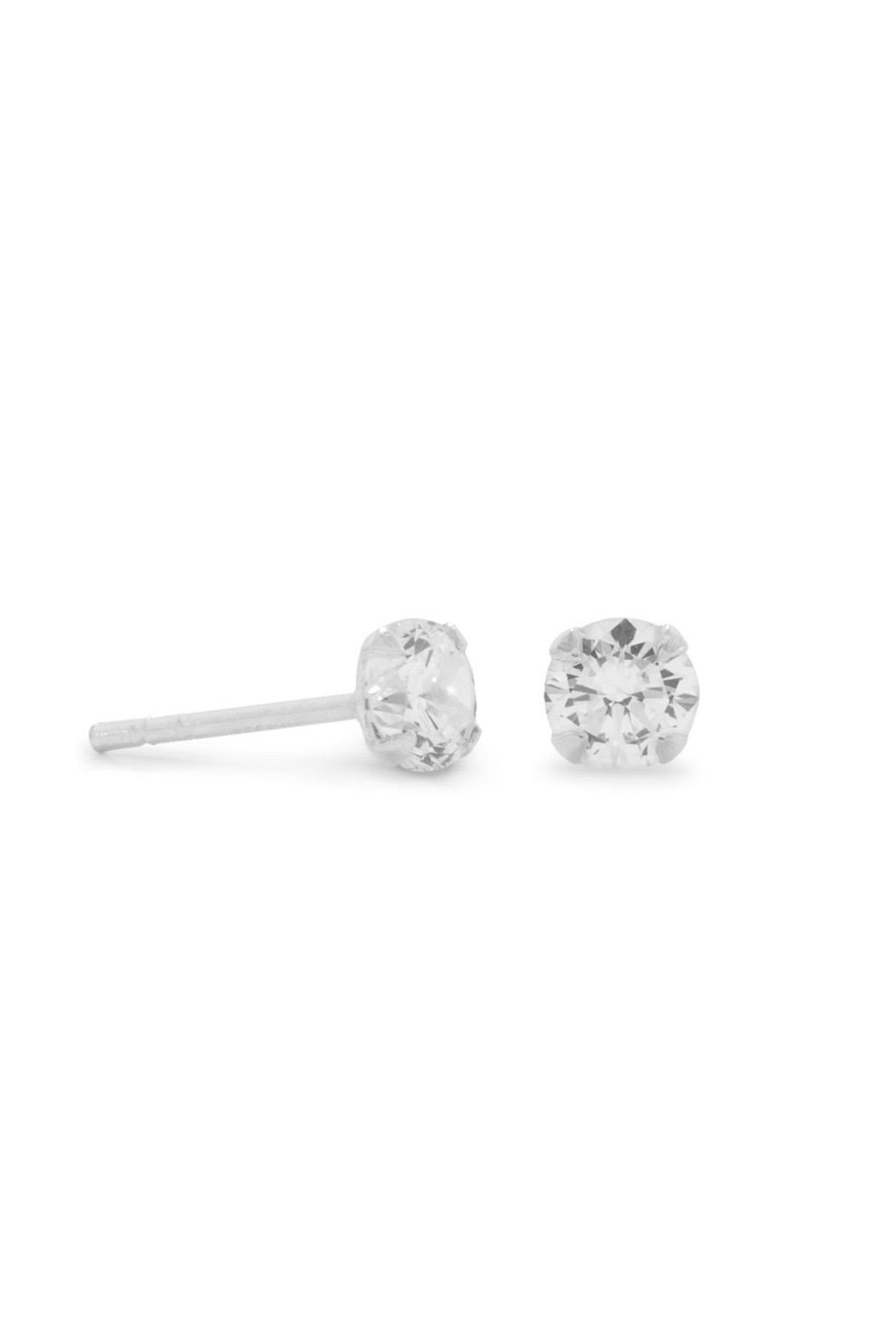 Wild Lilies Jewelry  Cz Stud Earrings - Front Full Image