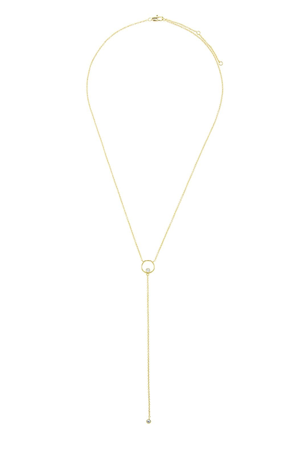 Wild Lilies Jewelry  Dainty Lariat Necklace - Front Full Image