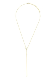 Wild Lilies Jewelry  Dainty Lariat Necklace - Front full body