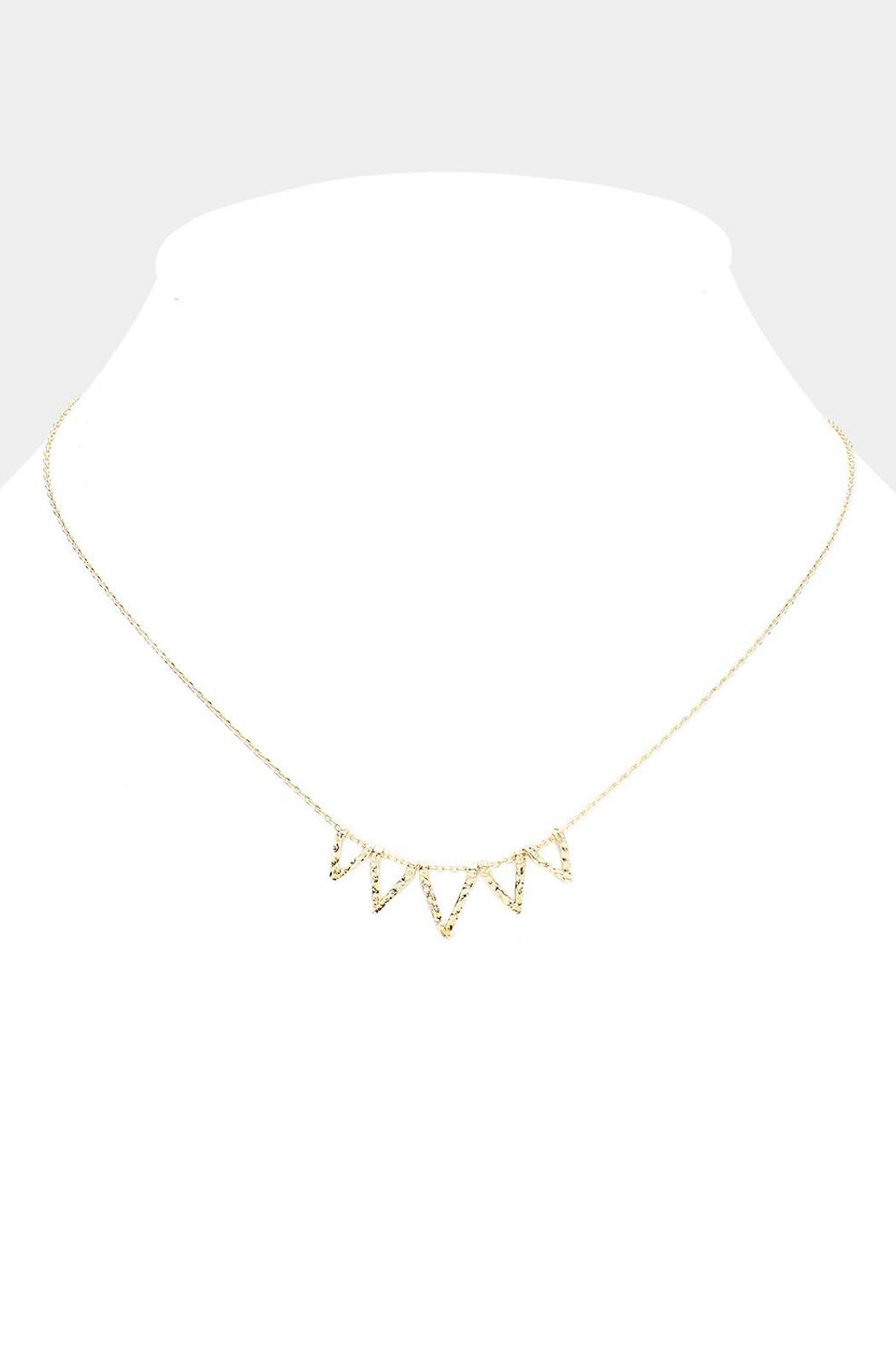 Wild Lilies Jewelry  Dainty Triangle Necklace - Front Full Image