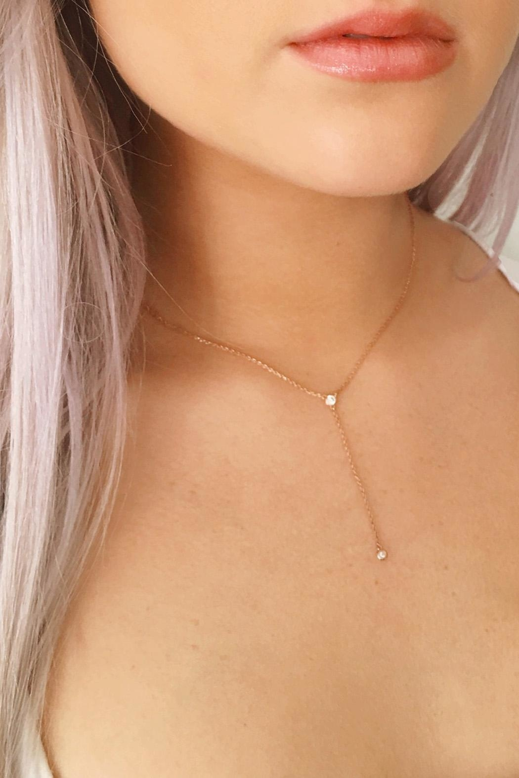 Wild Lilies Jewelry  Delicate Lariat Necklace - Main Image
