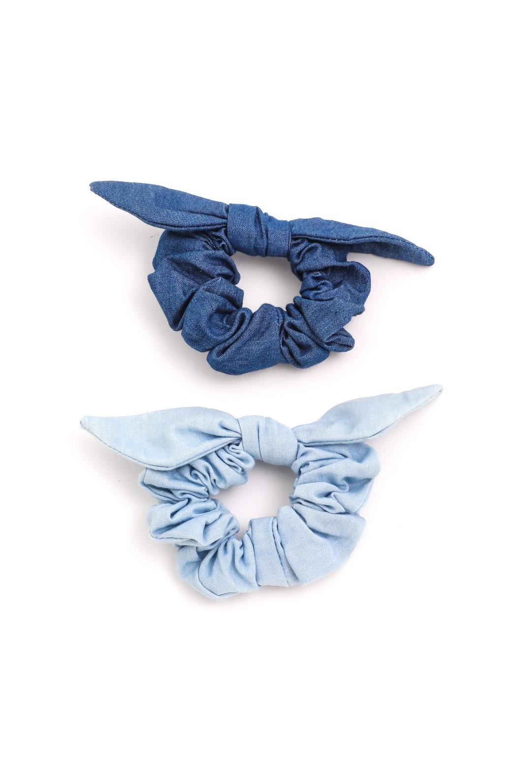 Wild Lilies Jewelry  Denim Scrunchie Set - Front Full Image