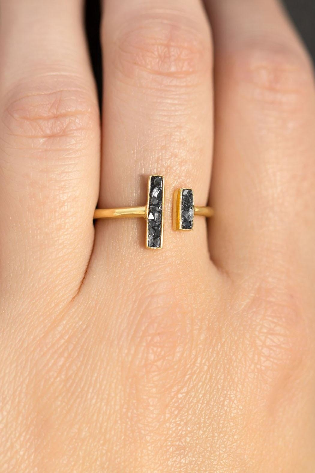 Wild Lilies Jewelry  Diamond Chip Ring - Front Full Image
