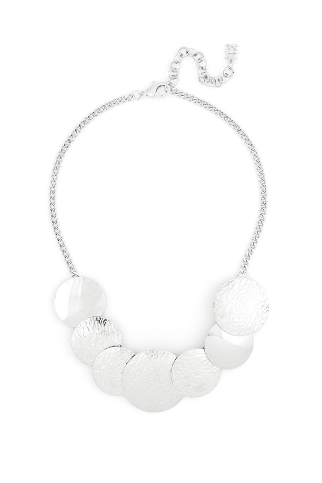Wild Lilies Jewelry  Disc Statement Necklace - Front Full Image