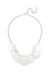 Wild Lilies Jewelry  Disc Statement Necklace - Front full body