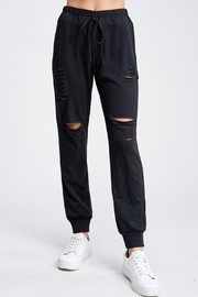 Wild Lilies Jewelry  Distressed Jogger Sweatpants - Front cropped