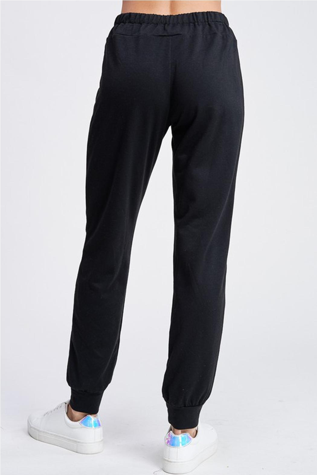 Wild Lilies Jewelry  Distressed Jogger Sweatpants - Side Cropped Image
