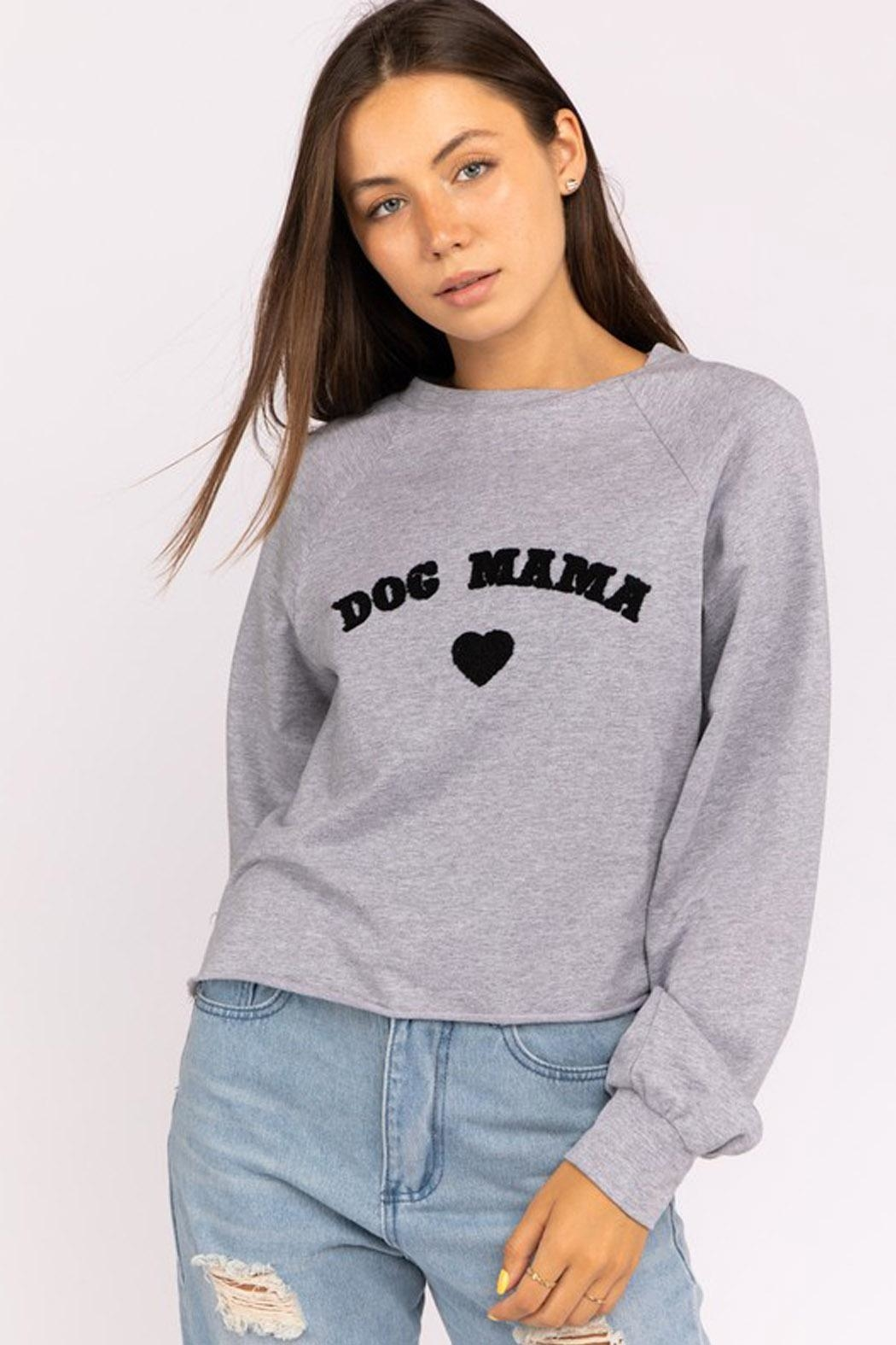 Wild Lilies Jewelry  Dog Mama Sweater - Front Cropped Image