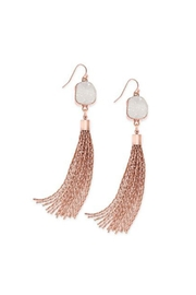 Wild Lilies Jewelry  Druzy Tassel Earrings - Product Mini Image