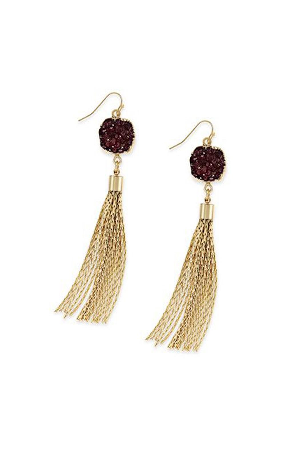 Wild Lilies Jewelry  Druzy Tassel Earrings - Main Image