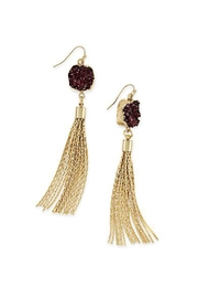 Wild Lilies Jewelry  Druzy Tassel Earrings - Front full body
